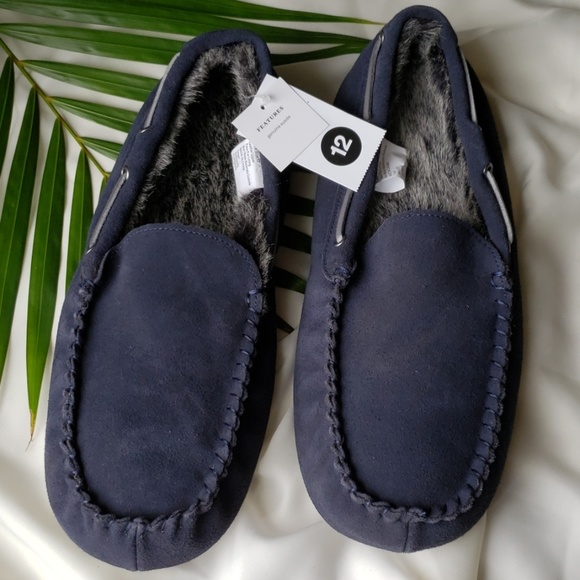 c19ef657d Goodfellow & Co Shoes | Mens Antonio Genuine Suede Moccasin Navy ...